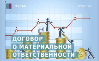 Перечень должностей, виды обязательств и условия наступления полной материальной ответственности работника перед работодателем