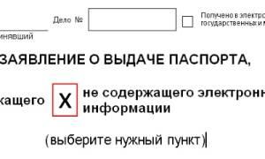 Правила оформления заявления на получение загранпаспорта старого образца. Пример заполнения анкеты и бланк